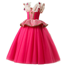 Red color princess baby girls party skirts with diamond butterflys children christmas halloween prom skirts kids boutiques ballgown on Sale