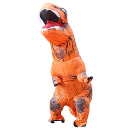 dinosaur suit adults Australia - Cosplay Feminino t rex Dino Rider Suit T-Rex Costume Purim Adult Men Halloween Inflatable T Rex Dinosaur Costume For Kids Women