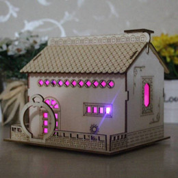Small House Decoration Australia - New country villa with light piggy bank cute creative decoration small house wooden home furnishings bedroom