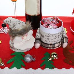 Christmas Gift Box Decoration Australia - 1Pcs Lovely Christmas Presents Box New Year Xmas decoration noel Kids Candy Box Cartoon Decor Christmas Gift Bags Wholesale