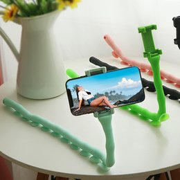 $enCountryForm.capitalKeyWord NZ - Flexible Cute Worm Lazy Mobile Cell Holder High Density Rubber Bed Desktop Phone Bracket Stand Y20