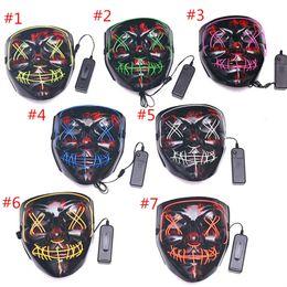Halloween-Maske Cosplay Partei-Kostüm Fluorescent Tanz Luminous Masken Geistertanz mit blinkenden Blut Horror Thriller LED 2020 Mask im Angebot