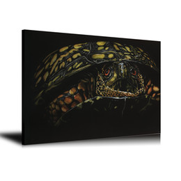 Turtles Figures Australia - HD Printed Animals Oil Painting Home Decoration Wall Art on Canvas Turtles 24x32inch Unframed