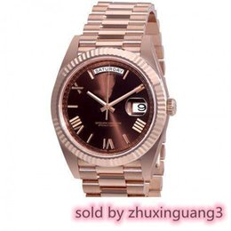 $enCountryForm.capitalKeyWord Australia - 9 Colors 41mm Chocolate Dial Automatic Glide Smooth Second Hand Rose Gold Watch Scratch Resistant Sapphire Crystal Glass Top Quality 2019