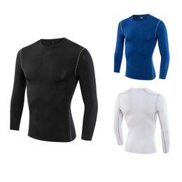 Gym Polyester T Shirt Long Sleeves NZ - Winter Plus Velvet Long Sleeve T-Shirt Men Sports Running Shirts Gym Clothing Fitness Top T Shirt Mens Soccer Jersey