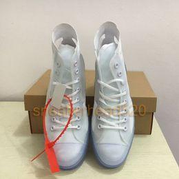 Leaves Lace online shopping - Left Right Chucks Running Shoes Luxury Men Women Fashion Designer Vulcanized Trainer Hi Sneaker Ice Blue s All Star Casual Shoe Eur36