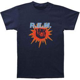 Navy Blue Slim Shirt Australia - Authentic R.E.M. REM Monster Burst Slim-Fit T-Shirt Navy S-2XL NEW Funny free shipping Unisex Casual Tshirt top