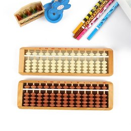 Education online shopping - Wooden Plastic Abacus For Children Abacuses Early Education Counting Frame Back Cover Computing Power Trainning Kids sz D1