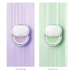 $enCountryForm.capitalKeyWord Australia - Hot Sell Korea Cosmetic Laneige Skin Veil Base Air Cushion BB Concealer Light Green Purple Color