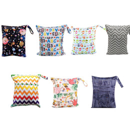 $enCountryForm.capitalKeyWord Australia - Dual Pocket Printed Portable Diaper Towel Storage Bag Travel Baby Nappies Organizer Zipper Bag Waterproof