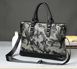 $enCountryForm.capitalKeyWord Australia - Factory wholesale bag personality camouflage Crossbody handbag men casual fashion business briefcase camouflage printed Leather Laptop Bag