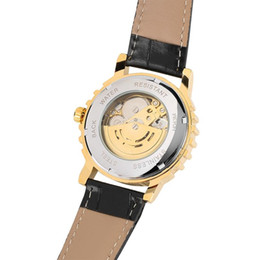 Luxury Watches Oversize Australia - Transparent Golden Gear Mechanical Watches Fluorescent Pointer for Women,Stainless Steel Mechanical Wristwatch with Oversize Numbers