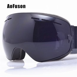 purple ski goggles UK - heap Skiing Eyewear 2020 Ski Snowboard Goggles. UV400 Big Spherical Mask Glasses Skiing Men Women Big Vision Profession Snow Ski Eyewear ...