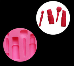 Lipstick rubber online shopping - Makeup tools lipstick nail polish chocolate Party DIY fondant cake decorating tools silicone mold dessert moulds
