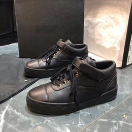 $enCountryForm.capitalKeyWord Australia - Luxury Women Shoes Designer Boots Black Lambskin Women Ankle Boots Designer Low Top Lace-Up Flat Shoes Black Leather Boots Rubber Sole