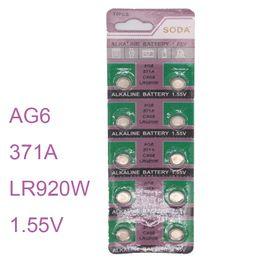$enCountryForm.capitalKeyWord NZ - 10pcs   set Watch Batterie AG6 SR920SW SR69 SG6 371 Cell Button Batteries Alkaline Men Ladies Childre Watches Battery