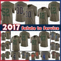 ef1edad59a5 Men 2017 Salute to Service Jersey St.louis Rams 30 Todd Gurley 12 Aaron  Rodgers Ha Ha Clinton-Dix 52 Clay Matthews Nelson Green Bays Packers