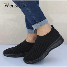 $enCountryForm.capitalKeyWord Australia - Sneakers For Women 2019 Knitted Vulcanize Shoes Tenis Masculino Summer Sneaker Slip On Mesh Basket Femme Zapatillas