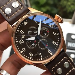 $enCountryForm.capitalKeyWord Australia - 44.2mm luxury watch automatic mechanical movement calendar display super waterproof casual leather strap designer mens watch With box R340