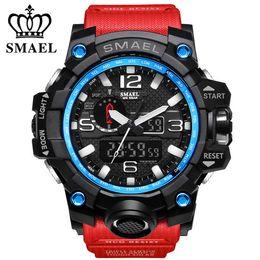$enCountryForm.capitalKeyWord Australia - SMAEL Men's Watch Top Fashion Brand Luxury Resin Quartz LED Digital Watch Luminous Men's Waterproof Sports Watch Men's Relogio Masculino