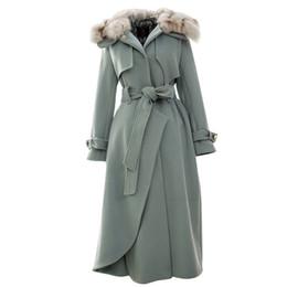 $enCountryForm.capitalKeyWord UK - YOSIMI 2018 Winter Maxi White Wool Long Women Coat Outwear Clothing Woolen Long Coat with Fur Collar Coats Blue Women Wool