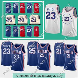 5f71fb1c2 Jimmy 23 Butler 76ers Jersey Men s Philadelphia Joel 21 Embiid Ben 25  Simmons Markelle 20 Fultz Allen 3 Iverson Stitched jerseys