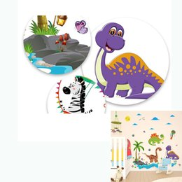 d758865d23f124 60*90CM Cartoon Dinosaur Wall Stickers For Kids Room Home Decor Wall Decals  Children Baby Bedroom Mural Art Poster