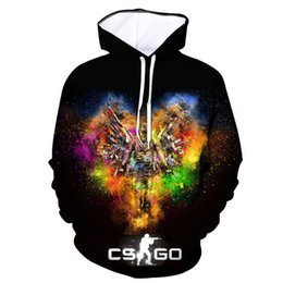Wholesale global clothes for sale – custom Cool CS GO Gamer Sweatshirt Counter Strike Global Offensive CSGO Men Hoodie Tops Quality Brand Clothing Funny d print HoodiefactorySH190902
