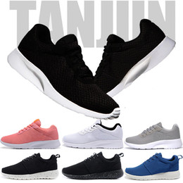 Discount sport shoes black colour - Hot Women Sneakers Mens Designer Trainers multiple colour Tanjun 3 Triple Black White Red Men London Olympic Sports Runn