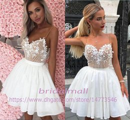 Teen prom dresses shorT online shopping - Spaghetti Appliqued Homecoming Dresses For Teens Vestidos De Graduations Sweet Formal Party Gowns Cheap Short Prom Dresses Cocktail