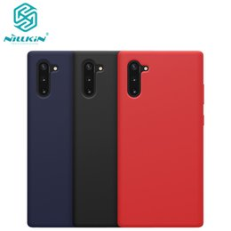 case note nillkin NZ - 10pcs lot Wholesale NILLKIN Flex Pure CASE For Samsung Galaxy Note 10 Note 10 5G Liquid Silicone Rubber Shockproof Phone Case