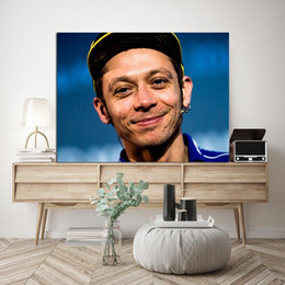 kids portraits NZ - Motor Racer Player Valen Portrait Painting Prince Poster Canvas Painting Wall Picture Poster Print Decorative For Kid Living Room Home Decor