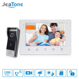 "wired door doorbell Australia - JeaTone 7"" Color Video Intercom Doorbell monitor Intercom System IP65 Waterproof Door Phone 1200TVL Camera Home Security Kit"