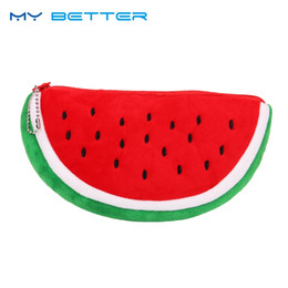 Watermelon Cosmetic Bags Cases Australia - Women Cosmetic Bag Fashion Watermelon Plush Zipper Make UP Organizer Pouch Bag for Travel Organizer Necessary Beauty Case #138474