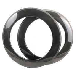 China High Profile 88mm Depth Carbon Fiber Rims Clinche   Tubular  Tubeless For Road Bike wheel And Triathlon carbon wheelset With 1k 3k 12k UD suppliers