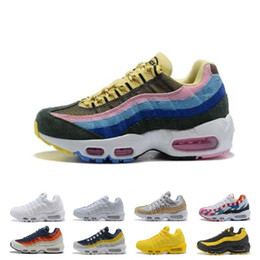 Neon Football Australia - New Women Designer 95 Running Shoes OG Grape Neon TT Black Red 95s Womens What The Trainers Sports Sneakers Size 36-40