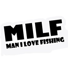 Gear Doors Australia - Milf I Love Fishing Stickers Decals Boat Fishing Gear Vinyl Personality Accessories Pattern Decals
