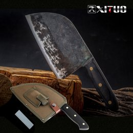 Knife Forged Australia - Full Tang Chef Knife Handmade Forged High-carbon Clad Steel Kitchen Knives Cleaver Filleting Slicing Broad Butcher Knife