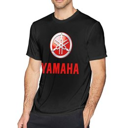 yamaha m Australia - Men's T-Shirt Yamaha Logo Round Neck Casual Cotton Short Sleeve Tee