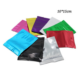 coffee storage bags wholesale NZ - 10*15cm 100pcs zipper zip lock mylar aluminum foil package bags dry food snacks and cookies storage pack bags coffee pouches