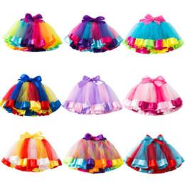 $enCountryForm.capitalKeyWord Australia - Baby Girls Skirts Rainbow Tutu Skirt Unicorn Headband 2Pcs Photo Prop Costume Outfits Party Shows Perform Skirt 1-8T