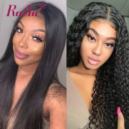 Discount indian deep wave wigs - Straight Body Wave Wigs 360 Full Lace Frontal Wig With Baby Hair Water Deep Wave Peruvian Lace Front Human Hair Wigs 180
