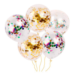 latex toys UK - New Fashion Multicolor Latex Sequins Filled Clear Balloons Novelty Kids Toys Beautiful Birthday Party Wedding Decorations