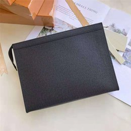Soft leather hand wallet online shopping - 2019 Fashion High Quality Ladies Men Classic Clutch Bag Wallet PVC Leather Designer Makeup Zipper Wallet The Man Hand Bag