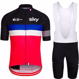 $enCountryForm.capitalKeyWord Australia - SKY Pro Team Cycling Jersey + Bib Shorts Cycling Set Men's Bicycle Cycling Clothing Breathable Bike Wear Shirts Ropa Ciclismo Mtb