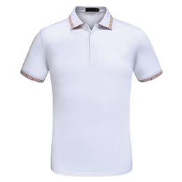 StyleS polo online shopping - Italy Brand Mens Designer Polo Shirt Short Sleeve Turn Down Lapel Black and White Polo Designer Hommes