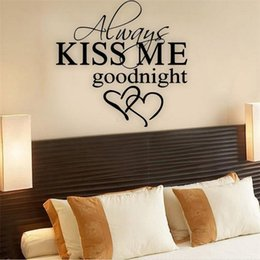 "$enCountryForm.capitalKeyWord Australia - Hot!2018 New Always Kiss Me Goodnight"" Home Decor Wall Sticker Decal Bedroom Vinyl Art Mural Drop Shipping Jun30"