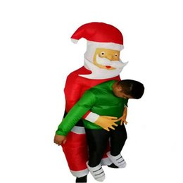 $enCountryForm.capitalKeyWord Australia - Santa Claus Hold People Inflatable Costumes Christmas Anime Mascot Costume for Women Man Adult Holiday Party Inflated Garment