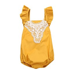 ecb93ee222 Summer Babys Girls Outfits Romper Newborn Toddler Infant Baby Girl Solid Sleeveless  Romper Lace Outfits Clothes NDA84L30