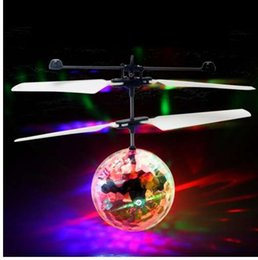 Luminous Helicopter Toy Australia - RC Flying Ball Luminous Kid's Flight Balls Electronic Infrared Induction Aircraft Remote Control Toys LED Light Mini Helicopter